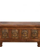 TREASURE Truhlice s Buddhou a mosaznými deskami