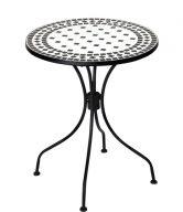 PALAZZO Stůl s mozaikou - černá/bílá
