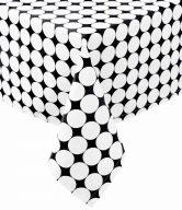 BLACK & WHITE Ubrus 250 x 150 cm kruh
