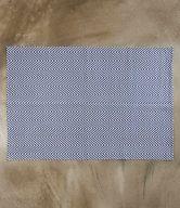 SILENT DANCER Koberec rybí kost 120 x 70 cm - tmavě modrá/bílá
