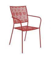 NANCY Zahradní židle s područkami - červená