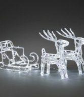 Vánoční venkovní dekorace Sáně s jeleny