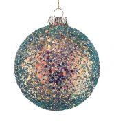 HANG ON Vánoční koule flitry 10 cm set 6 ks - zelená