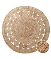 ALL NATURE Konopný koberec s děrovaným vzorem 150 cm - přírodní