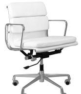 Culty Bílá kožená kancelářská židle Soft Pad 217 - tip