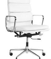 Culty Bílé kožené kancelářské křeslo Soft Pad Group 219 - tip