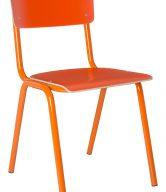 Oranžová dřevěná židle ZUIVER BACK TO SCHOOL - tip