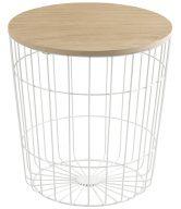 SCANDI Bílý odkládací stolek Rufus Ø 39 cm - tip