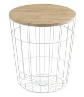 SCANDI Bílý odkládací stolek Rufus Ø 34 cm - tip